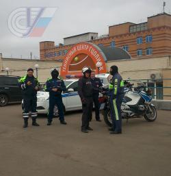 Контраварийная подготовка мотоциклистов ДПС продолжается