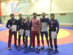 Студенты РГУФКСМиТ завоевали четыре медали на чемпионате Москвы по греко-римской борьбе
