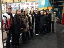 Чемпионка мира и студентка РГУФКСМиТ фигуристка Евгения Медведева провела практическое занятие на льду для своих коллег