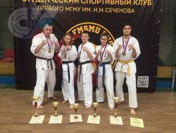 Команда РГУФКСМиТ выиграла бронзу в межвузовском турнире по правилам Ашихара-каратэ