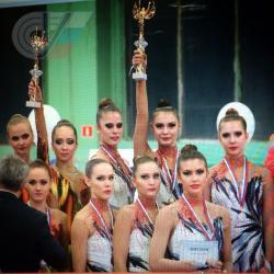 Сборная РГУФКСМиТ по гимнастике - призеры турнира Oscar cup