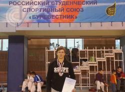 Никита Чекалов - серебряный призер чемпионата России среди студентов по тхэквондо ITF